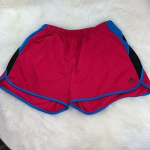 Adidas Athletic Shorts Pink, Blue & Black Sz XL